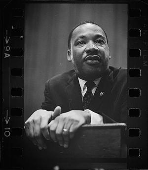 Martin Luther King Jr Giving a Speech