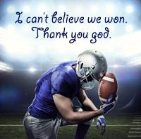 Does god help athletes win?